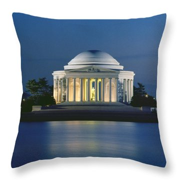 The Jefferson Memorial Throw Pillow by Peter Newark American Pictures