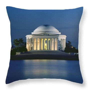 Jefferson Memorial Throw Pillows