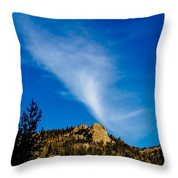 The Jet Strean Up At 10000 Ft Throw Pillow by Brian Williamson