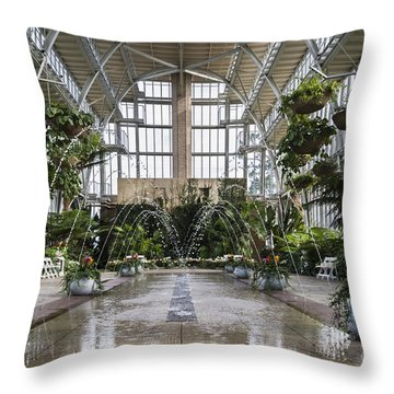 The Jewel Box Fountain Throw Pillow