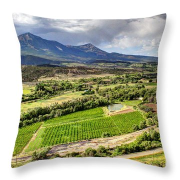 The Jewel Of The North Fork Throw Pillow