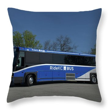The Jo Bus 406 Mci Throw Pillow