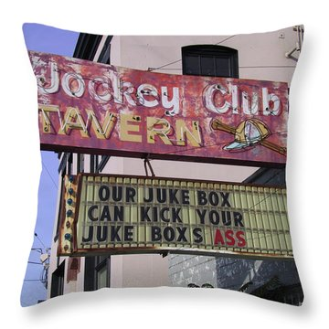 The Jockey Club Throw Pillow