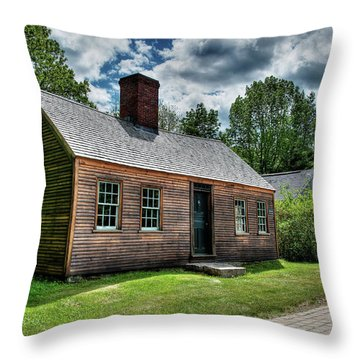 The John Wells House In Wells Maine Throw Pillow