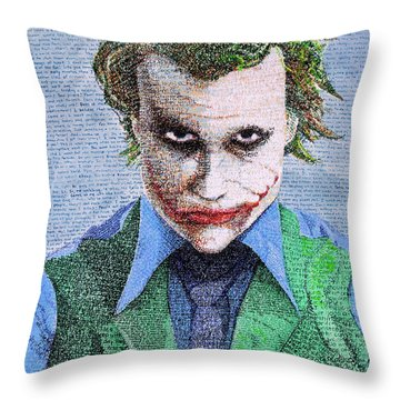 The Joker In His Own Words Throw Pillow