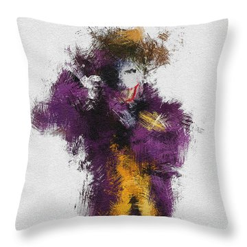 The Joker Throw Pillow by Miranda Sether