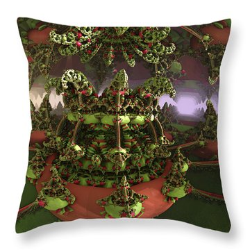 The Jokers Machine Throw Pillow by Melissa Messick