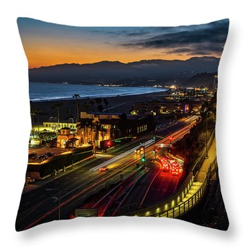 The Jonathan Beach Club - Night  Throw Pillow