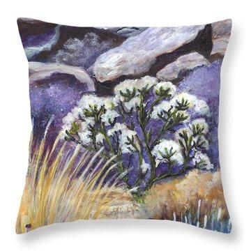 The Joshua Tree Throw Pillow by Carol Wisniewski