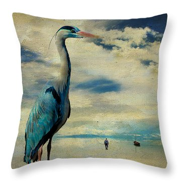 Throw Pillow featuring the photograph The Journey ... by Chris Armytage