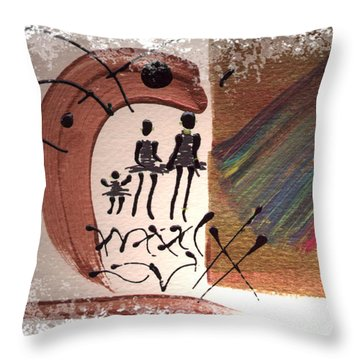 Throw Pillow featuring the painting The Journey by Angela L Walker