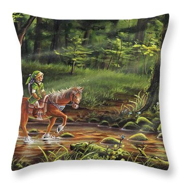 The Journey Begins Throw Pillow by Joe Mandrick
