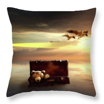 Throw Pillow featuring the digital art The Journey Begins  by Nathan Wright