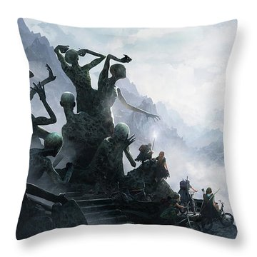 The Journey Throw Pillow