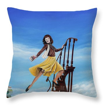 The Journey Of A Librarian Throw Pillow by Cindy D Chinn