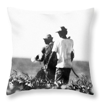 The Journey Of Fishermen Throw Pillow