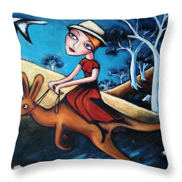 The Journey Woman Throw Pillow by Leanne Wilkes