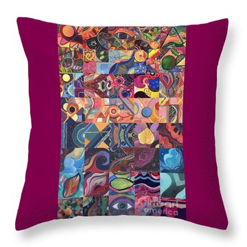 The Joy Of Design First 40 Variation 1 Throw Pillow