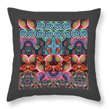 The Joy Of Design Mandala Series Puzzle 7 Arrangement 3 Throw Pillow