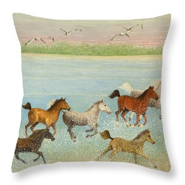 The Joy Of Freedom Throw Pillow by Pat Scott