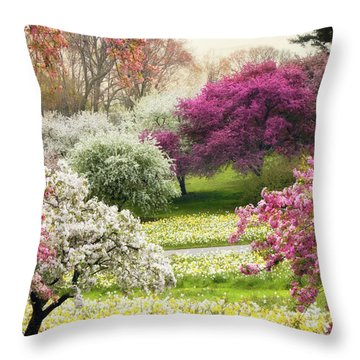Throw Pillow featuring the photograph The Joy Of Spring by Jessica Jenney
