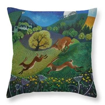 The Joy Of Spring Throw Pillow by Lisa Graa Jensen