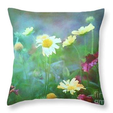 The Joy Of Summer Flowers Throw Pillow