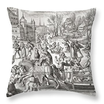 The Joys Of Winter, After The 16th Throw Pillow