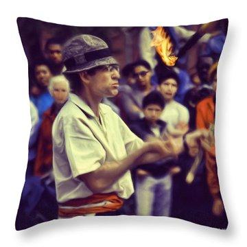 The Juggler Throw Pillow