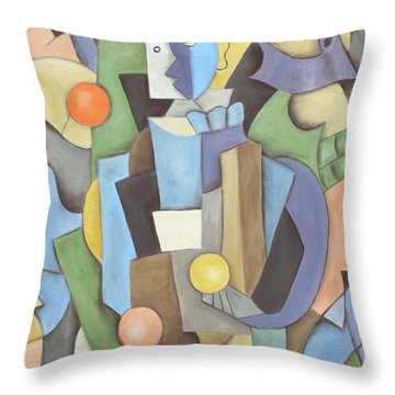 The Juggler Throw Pillow by Trish Toro