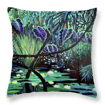 The Jungle Throw Pillow by Geoff Greene