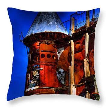 The Junk Castle Throw Pillow by David Patterson