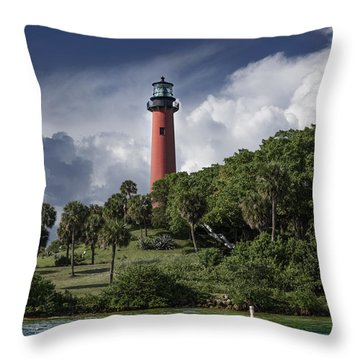 The Jupiter Inlet Lighthouse Throw Pillow