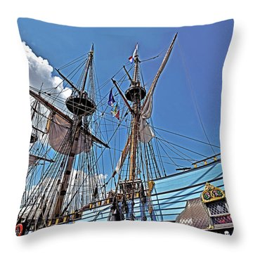 Throw Pillow featuring the photograph The Kalmar Nyckel - Delaware by Brendan Reals