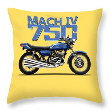 The Kawasaki H2 1975 Throw Pillow
