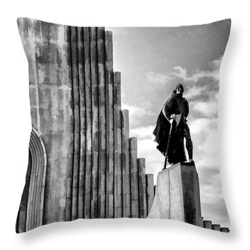 The Leader Of Light Throw Pillow