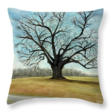 The Keeler Oak Throw Pillow
