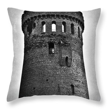 The Keep At Nenagh Castle In Nenagh Ireland Throw Pillow