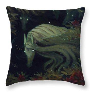 The Kelpie Pond Throw Pillow