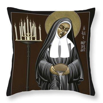 The Kenosis Of St Bernadette Of Lourdes 063 Throw Pillow