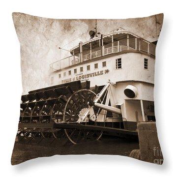 The Kentucky Belle Of Louisville  Throw Pillow
