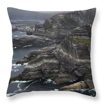 The Kerry Cliffs, Ireland Throw Pillow