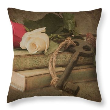 The Key To My Heart Throw Pillow