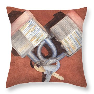 The Keys To My Heart Throw Pillow by Ken Powers