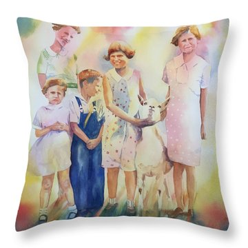 The Kids And The Kid Throw Pillow