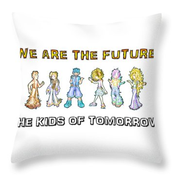 Throw Pillow featuring the digital art The Kids Of Tomorrow by Shawn Dall