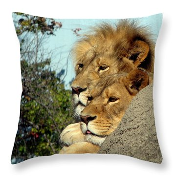 The King And Queen 1 Throw Pillow by George Jones