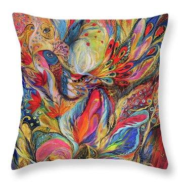 The King Bird Throw Pillow