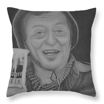 The King Throw Pillow by Brian Leverton