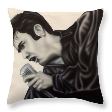 The King  Throw Pillow by Darren Robinson
